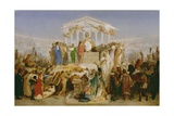 Age of Augustus, the Birth of Christ, 1852-54 Giclee Print by Jean-Leon Gerome