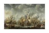 Anglo-Dutch War, Battle of Terheide, 1653-66 Giclee Print by Jan Beerstraten