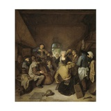 Peasants Making Music and Dancing, 1650-64 Giclee Print by Cornelis Bega