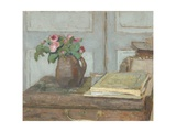 The Artist's Paint Box and Moss Roses, 1898 Giclee Print by Edouard Vuillard