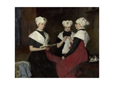 Three Girls from the Amsterdam Orphanage, 1885 Giclee Print by Therese Schwartze