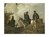 Cossack Outpost in 1813 Giclée-Druck von Pieter Gerardus van Os