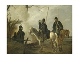 Cossack Outpost in 1813 Giclee Print by Pieter Gerardus van Os