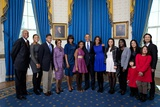 President Barack Obama with His Multi-Ethnic Extended Family, Jan 20, 2013 Photo