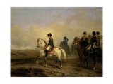 Emperor Napoleon I and His Staff on Horseback, C. 1815-50 Giclee Print by Horace Vernet