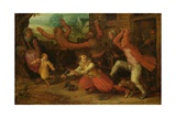 The Peasant's Joy (The Expulsion), after 1619 Giclee Print by David Vinckboons