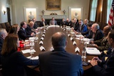President Obama Meets with U.S. Intelligence Officials in the Cabinet Room of the White House Photo