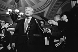 Senator Ted Kennedy Speaks to Reporters in the U.S. Capitol During Clinton Impeachment Trial Photo