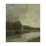 Barge Canal, C. 1860-88 Giclee Print by Anton Mauve