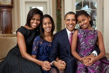 Obama Family Portrait, Dec. 11, 2011. Photo