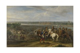 Louis XIV Crossing into the Netherlands at Lobith, C. 1672-90 Giclee Print by Adam Frans van der Meulen