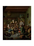 The Raree-Show ('T Fraay Curieus), 1718 Giclee Print by Willem Van Mieris