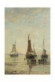Bluff-Bowed Scheveningen Boats at Anchor, 1860-89 Giclee Print by Hendrik Willem Mesdag