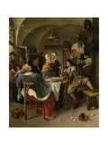 Family Scene, 1660-79 Giclee Print by Jan Steen