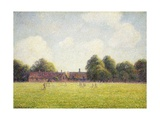 Hampton Court Green, 1891 Giclee Print by Camille Pissarro