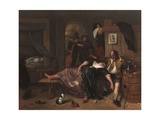 The Drunken Couple, 1655 Giclee Print by Jan Steen