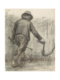 Wheat Mower with Hat, Seen from Behind, C. 1870-90 Giclee Print by Vincent van Gogh