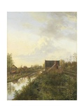 The Canal at 'S-Graveland, 1818 Giclee Print by Pieter Gerardus van Os