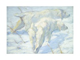 Siberian Dogs in the Snow, 1909-10 Giclee Print by Franz Marc