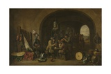 Guardroom, 1641 Giclee Print by David Teniers