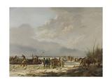 Breaking the Ice on the Karnemelksloot (Buttermilk Ditch), Naarden, 1814 Giclée-Druck von Pieter Gerardus van Os