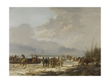 Breaking the Ice on the Karnemelksloot (Buttermilk Ditch), Naarden, 1814 Giclee Print by Pieter Gerardus van Os