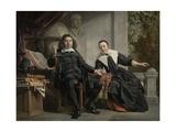 Abraham Casteleyn and His Wife, Margarieta Van Bancken, 1663 Giclee Print by Jan de Bray
