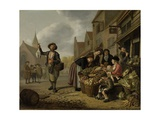 The Greengrocer's Shop De Buyskool, 1654 Giclee Print by Jan Victors