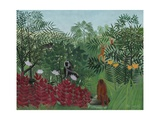 Tropical Forest with Monkeys, 1910 Giclée-tryk af Henri Rousseau