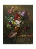 Still Life with Flowers in a Greek Vase: Allegory of Spring, 1817 Giclee Print by Georgius Jacobus Johannes van Os