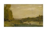 Landscape on the Oise, 1872 Giclee Print by Charles Francois Daubigny