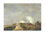 Bombardment of Naarden, April 1814 Giclée-Druck von Pieter Gerardus van Os