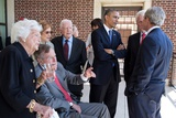 President Barack Obama and First Lady Michelle Obama Talk with Former Presidents and First Ladies Photo