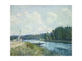 The Banks of the Oise, 1877-78 Giclee Print by Alfred Sisley
