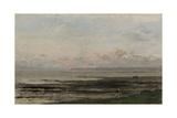 Beach at Ebb Tide, by Charles Francois Daubigny, C. 1850-78 Giclee Print by Charles Francois Daubigny