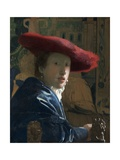 Girl with the Red Hat, C. 1665-66 Giclee Print by Johannes Vermeer