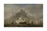Battle of Solebay, 1691 Giclee Print by Willem van de Velde
