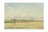 Landscape, Ile-De-France, 1873 Reproduction procédé giclée par Camille Pissarro