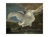 The Threatened Swan, C. 1650 Giclee Print by Jan Asselijn