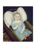 Baby in Wicker Basket, 1840 Giclee Print by Joseph Whiting Stock