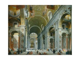 Interior of Paint Peter's, Rome, 1754 Giclee Print by Giovanni Paolo Panini