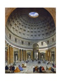 Interior of the Pantheon, Rome, 1734 Giclee Print by Giovanni Paolo Panini