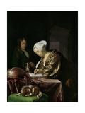 The Letter Writer, 1680 Lámina giclée por Frans Van Mieris