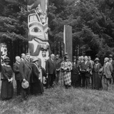 President Warren Harding and His Alaska Party at the Great Alaskan Totem Pole at Sitka Photo