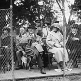 President Warren Harding and First Lady Watching a Tennis Match on the White House Courts Photo