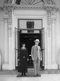 President Calvin Coolidge and the First Lady Grace Coolidge at the White House Photo