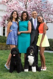Obama Family Photo in the White House Rose Garden, Easter Sunday, April 5, 2015 Photo