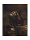 The Apostle Paul, C. 1657 Giclee Print by  Rembrandt van Rijn