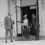President Warren Harding Leaving the White House for the Last Time, June 20, 1923 Photo