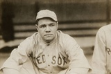Babe Ruth When He Played for the Boston Red Soxs, Ca. 1919 Photo